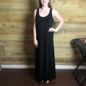 Banana republic, Black Maxi/sleeveless tank dress